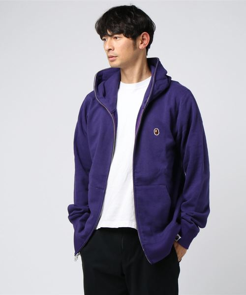 One Point Full Zip Hoodie (Purple) - Bape