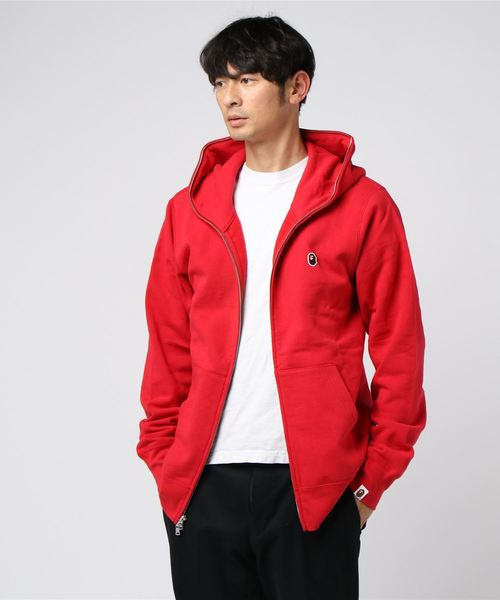 One Point Full Zip Hoodie (Red) - Bape
