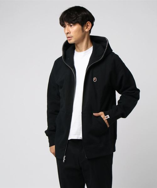 One Point Full Zip Hoodie (Black) - Bape