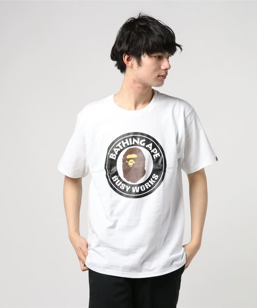Busy Works Tee (White) - Bape