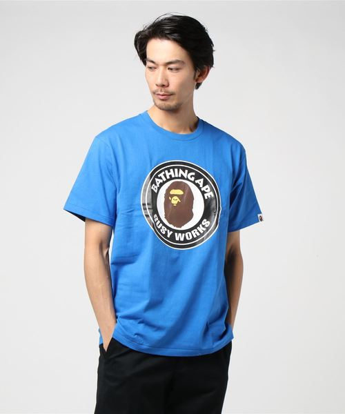 Busy Works Tee (Blue) - Bape