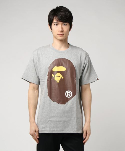 Big Ape Head Tee (Grey) - Bape