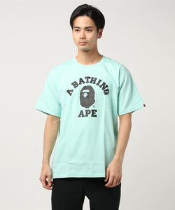Bicolor College Tee (Mint) - Bape