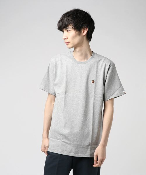 Ape Head One Point Tee (Grey) - Bape
