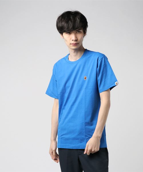 Ape Head One Point Tee (Blue) - Bape