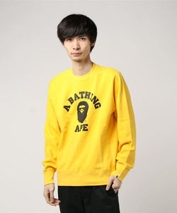 College Crewneck (Yellow) - Bape