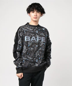Space Camo Wide Crewneck (Black) - Bape