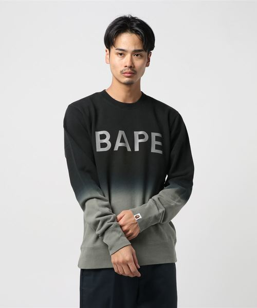 Gradation Crewneck (Grey) - Bape