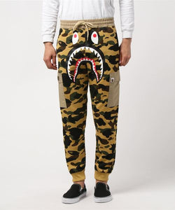 1st Camo Shark Slim Sweat Cargo Pants (Beige) - Bape