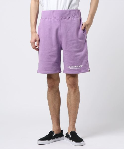 Pastel Color Sweat Shorts (Purple) - Bape
