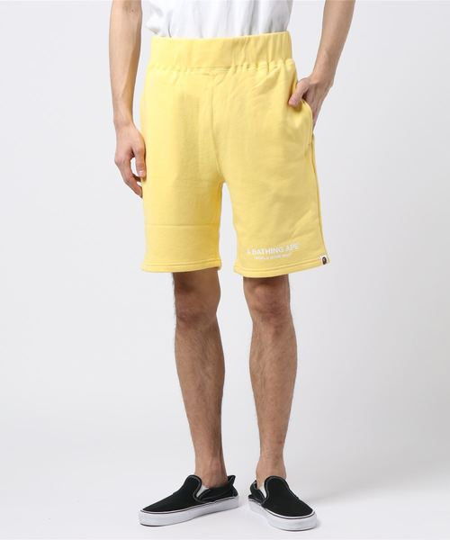 Pastel Color Sweat Shorts (Yellow) - Bape
