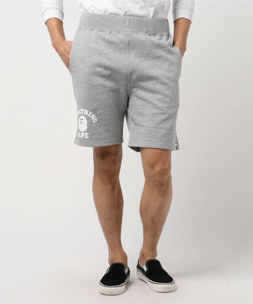 College Sweat Shorts (Grey) - Bape