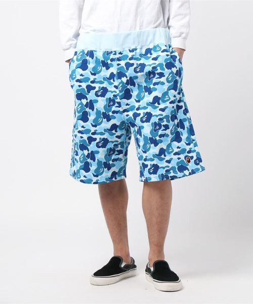 ABC One Point Sweat Shorts (Blue) - Bape