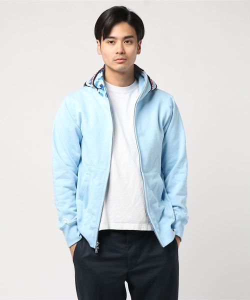 ABC Shark Full Zip Hoodie (Blue) - Bape