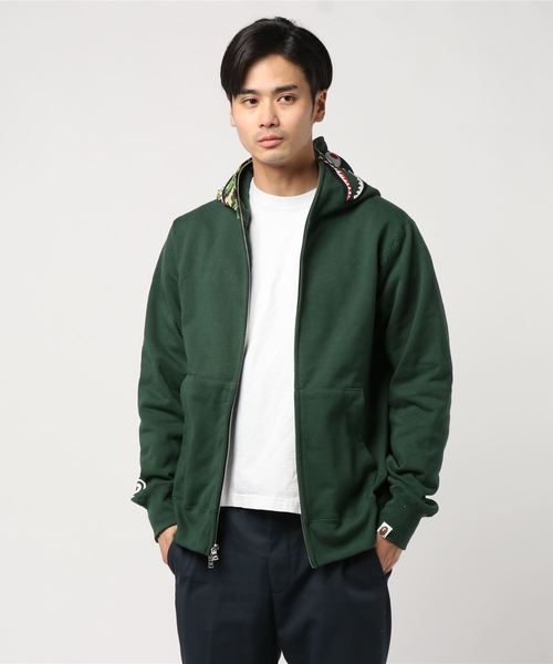ABC Shark Full Zip Hoodie (Green) - Bape