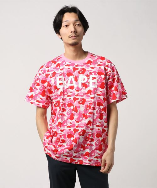 ABC Relaxed Tee (Pink) - Bape