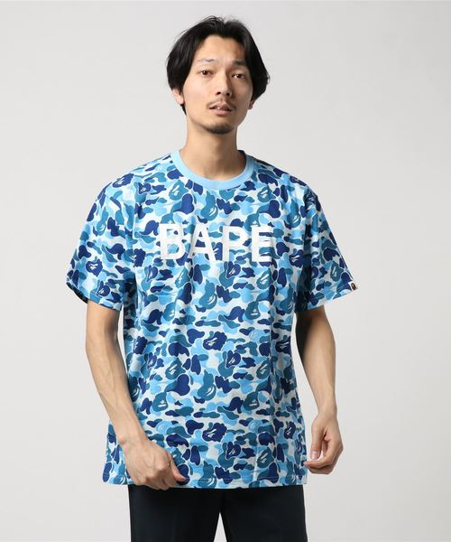 ABC Relaxed Tee (Blue) - Bape