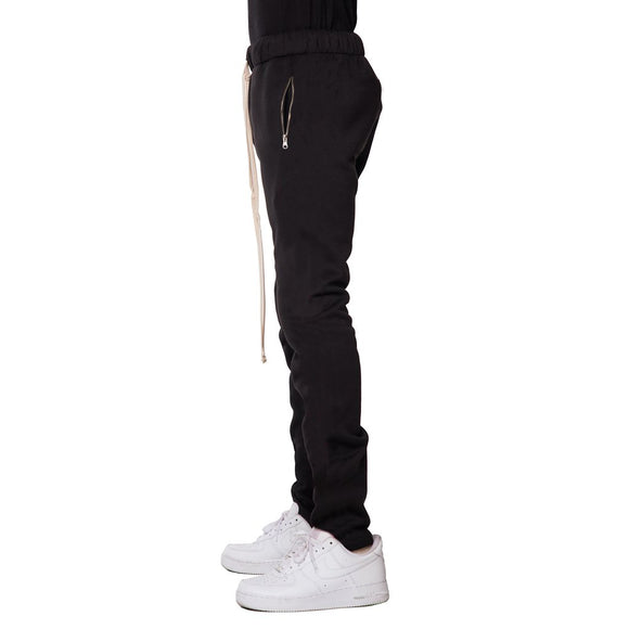Fleece Zipper Pants (Black) - EPTM