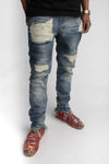 Heavy Distressed Stonewash Jeans - C2H4 Los Angeles