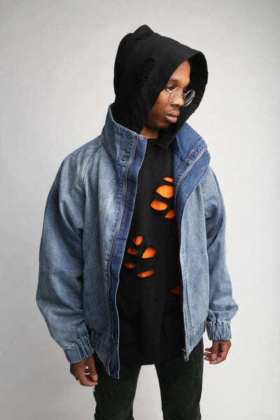 90s Windbreaker Denim Jacket - C2H4 Los Angeles
