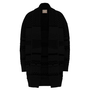 Dean Collection Cardigan (BLACK/GREY) - ANZ Clothing