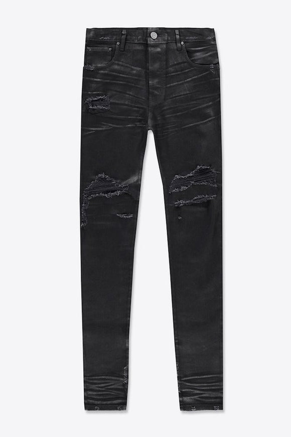 Coated Cash Wash Denim - En Noir
