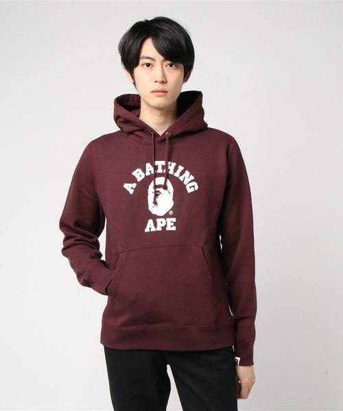 College Heavyweight Pullover (Burgundy) - Bape