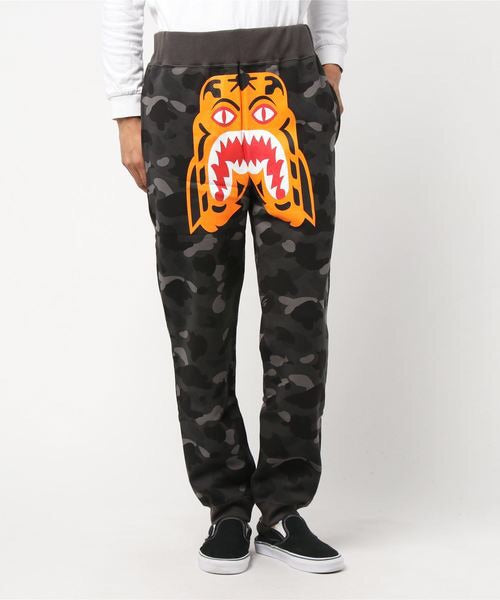 Color Camo Tiger Slim Sweatpants (Black) - Bape