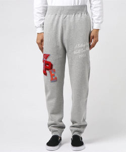 Multi Emblem Slim Sweatpants (Grey) - Bape