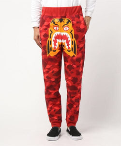 Color Camo Tiger Slim Sweatpants (Red) - Bape