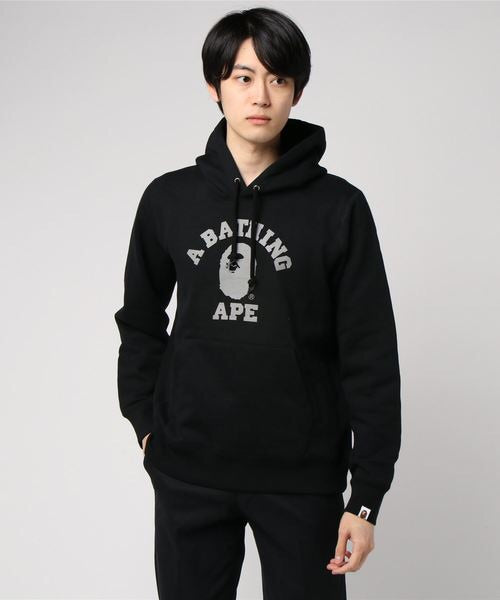 College Heavyweight Pullover (Black) - Bape