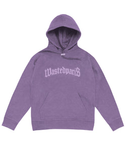 Stone Washed London Hoodie (Purple) - Wasted Paris