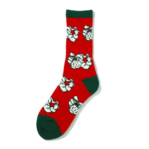 Sippin Santa Socks - 40s & Shorties S