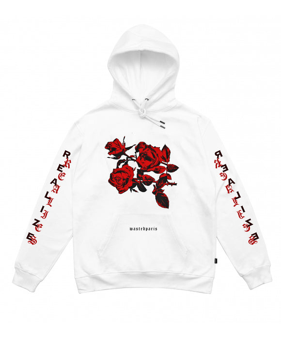 Real Lies Hoodie (White) - Wasted Paris