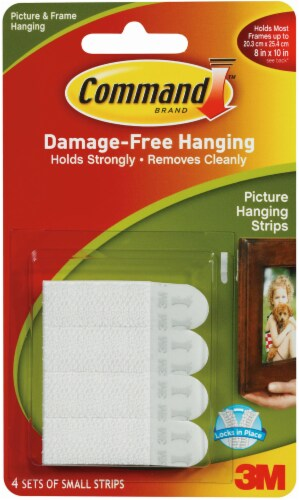 Command Damage-Free Small Picture Hanging Strips - White