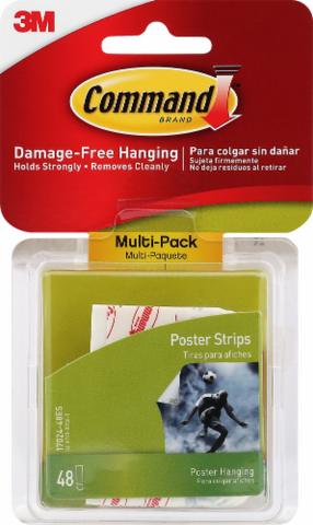Command Damage-Free Poster Hanging Strips - White