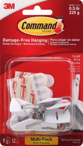 Command Damage-Free Hanging 3M Small Wire Hooks Multi Pack