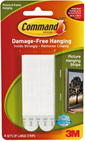 Command Damage-Free Large Picture Hanging Strips - White