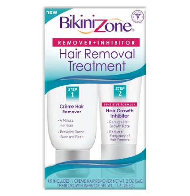 Bikini Zone Remover + Inhibitor Hair Removal Kit