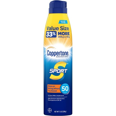 Coppertone Sport Sunscreen Spray - SPF 50 - 7.3oz Value Size