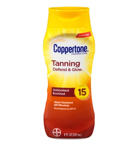 Coppertone Tanning Sunscreen Lotion - SPF 15 - 8oz