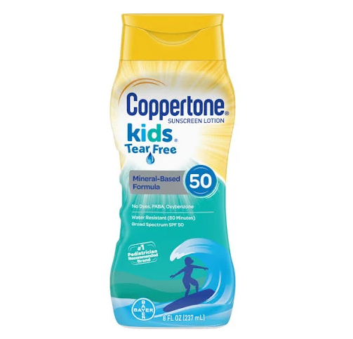 Coppertone Kids Sunscreen Lotion, Tear Free, SPF 50 - 8 fl oz