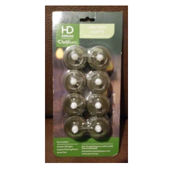 HD Designs Outdoors Lantern Tea Lights 8-Pack LED Flickering