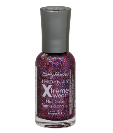Sally Hansen Hard as Nails Xtreme Wear Nail Color, Rockstar Pink #140 - 0.4 fl oz bottle
