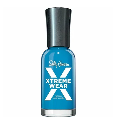 Sally Hansen Hard As Nails Xtreme Wear Nail Color, Blue Flame, 0.4 Fl