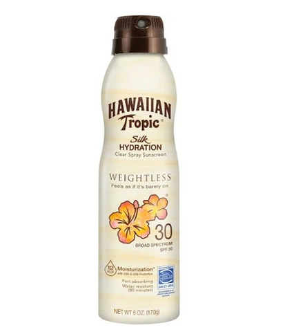 Hawaiian Tropic Silk Hydration Weightless Sunscreen C-Spray - SPF 30 - 6oz