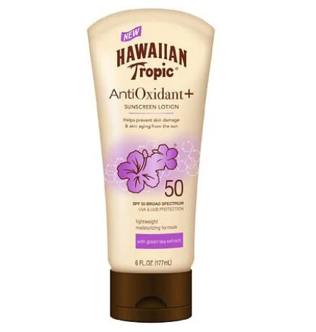 Hawaiian Tropic Antioxidant Sunscreen Lotion SPF 50 With Green tea extract - 6.0 fl oz