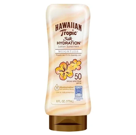 Hawaiian Tropic Silk Hydration Weightless Lotion Sunscreen - SPF 50 - 6oz