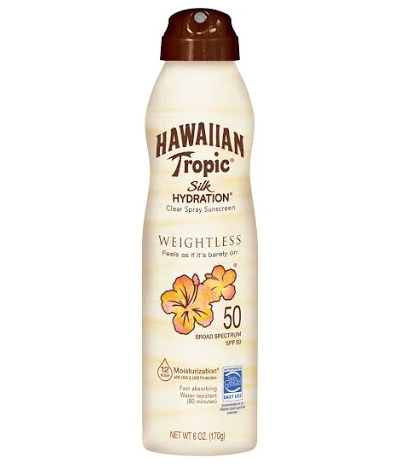 Hawaiian Tropic Silk Hydration Weightless Sunscreen C-Spray - SPF 50 - 6oz