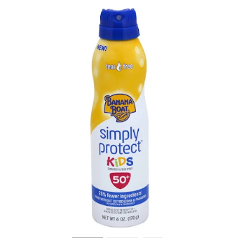 Banana Boat Simply Protect Sunscreen, Kids, Lotion Spray, Broad Spectrum SPF 50+ - 6 oz